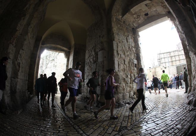 Jerusalem Marathon - Jaffa Gate, the Old City