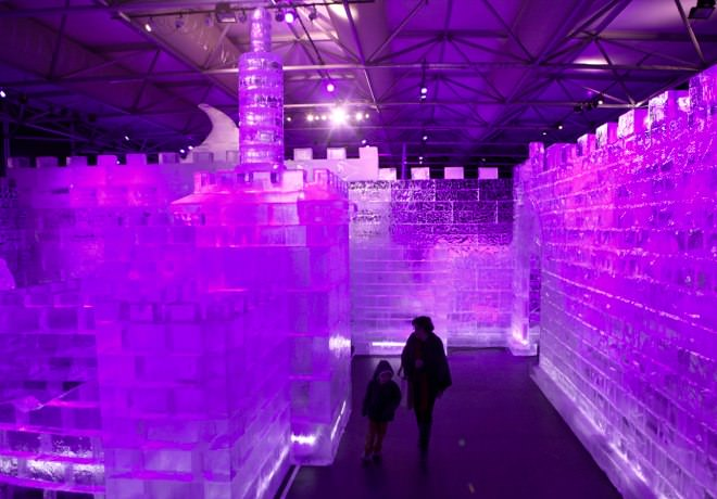 The International Ice Festival in Purple