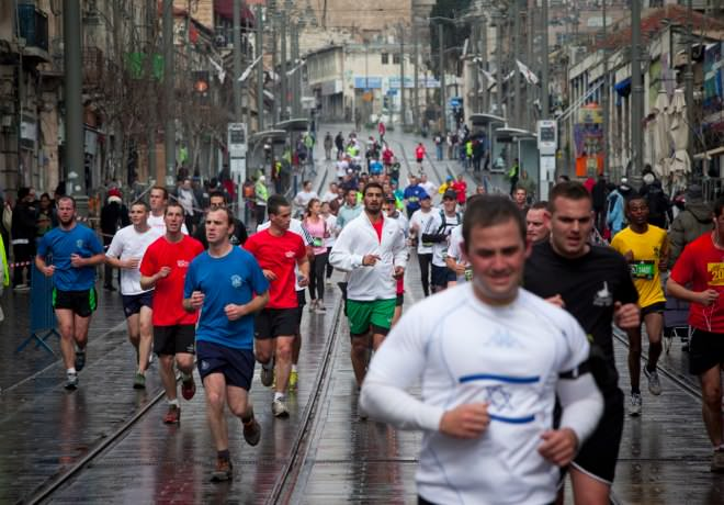 Jerusalem Marathon, Light Rail Project on Jaffa Rd