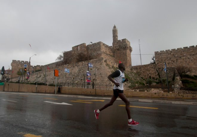 Jerusalem Marathon - the Old City Walls