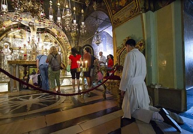 Church of the Holy Sepulchre at Prayer Time