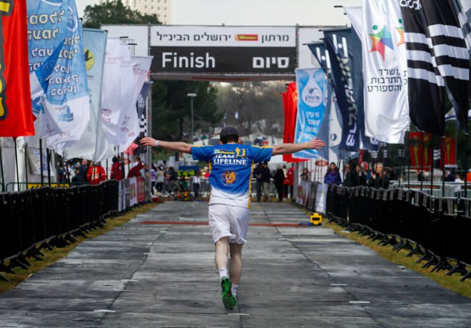 Jerusalem Marathon - the Finish Line