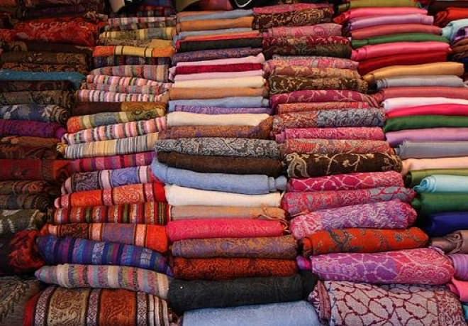 A Fabric Shop at the Market
