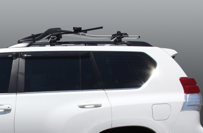 Roof Rack with Bicycle Device
