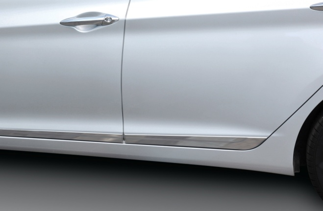 Silver Side Molding Stripes