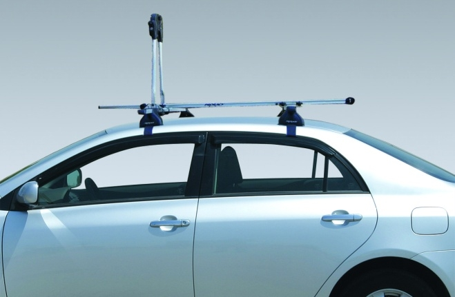 Roof Rack + Bicycle Device