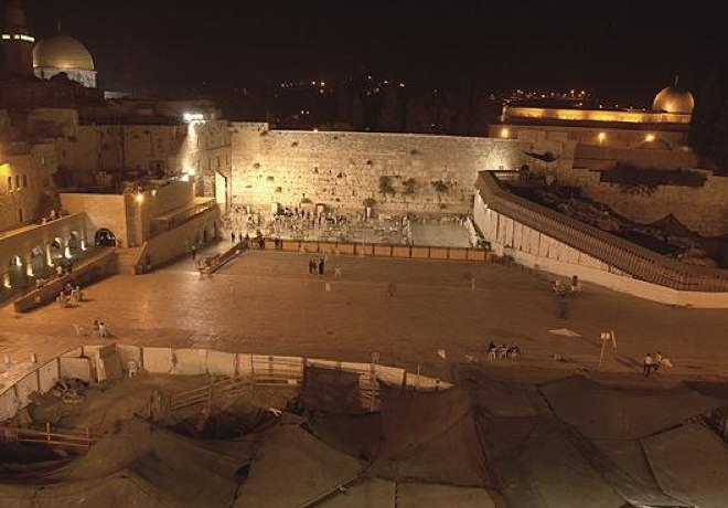 The Western Wall at Nightfall