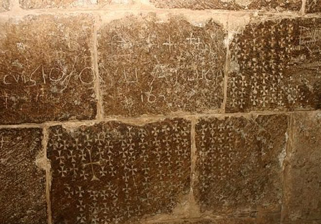 Crosses Engraved on the Walls of the Church