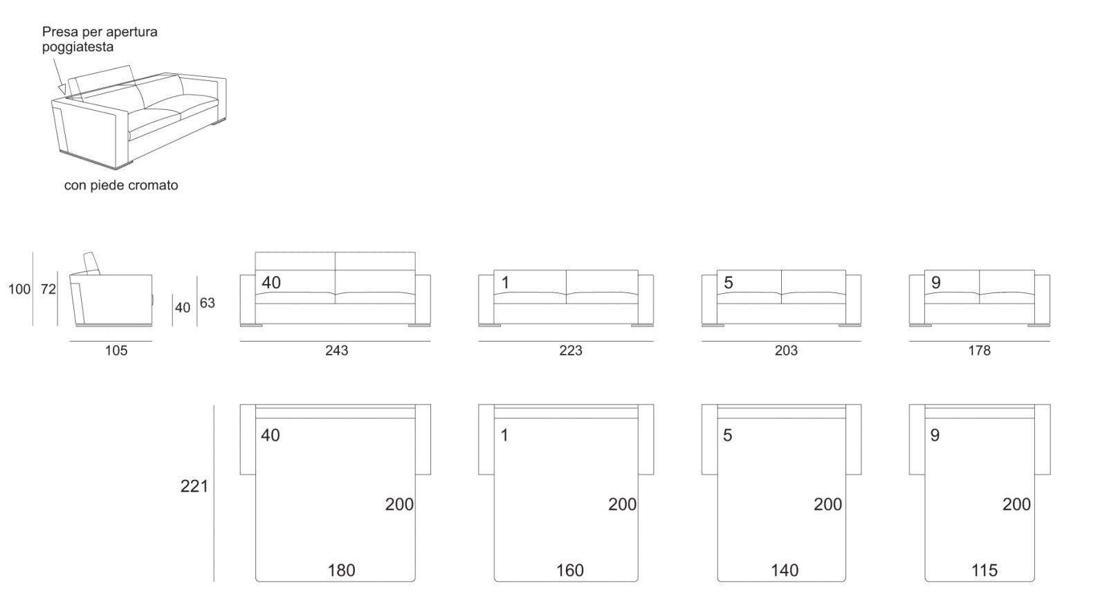 Double sofa bed dimensions solsta sleeper sofa ikea thesofa for Small double divan bed size