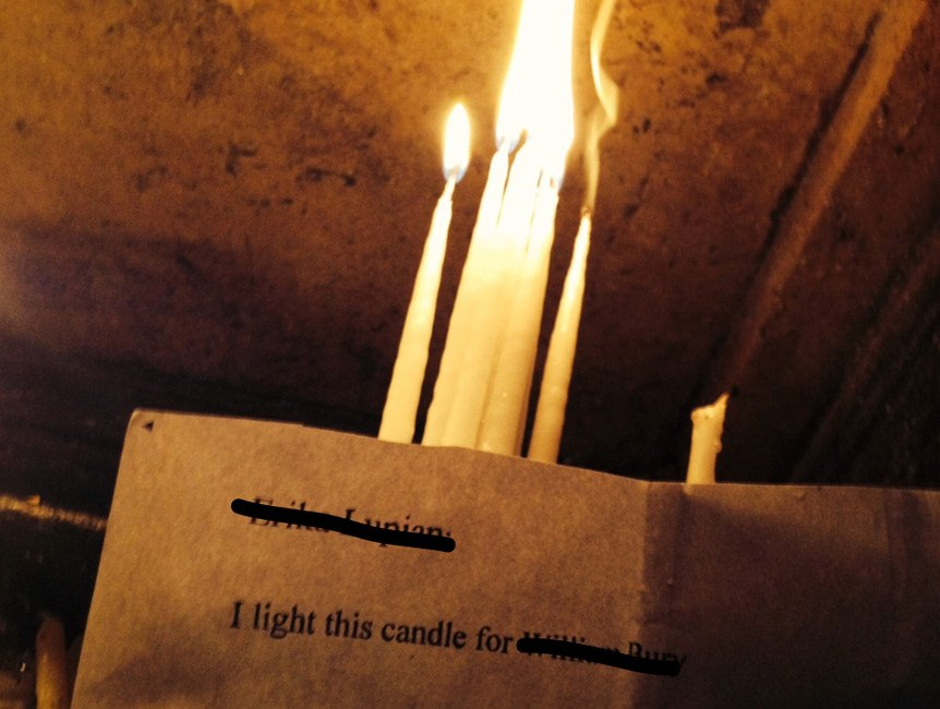 Light a candle for a week in the Church of Holy Sepulchre
