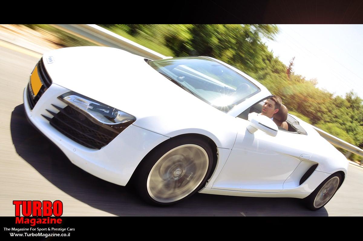 רק החוצה אאודי R8 ספיידר - היחידה בישראל- מבחן בלעדי. - Turbo Magazine MG-02